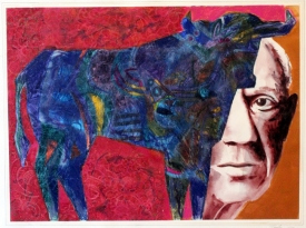 a blue bull-picasso